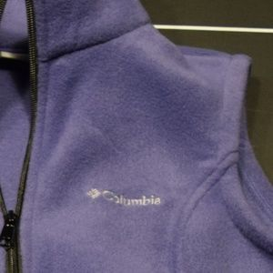 Women's S Purple Columbia Fleece Vest